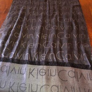 Calvin Kline scarf two town gray/black